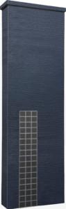 ファミアージュアクシス500×1600[本体]ダークグレー[タイル]マットブラック