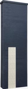 ファミアージュアクシス500×1600[本体]ダークグレー[タイル]ミルキーホワイト