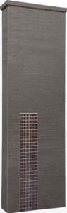 ファミアージュアクシス500×1600[本体]ダークブラウン[タイル]セピアブラウン
