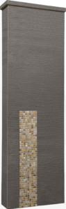 ファミアージュアクシス500×1600[本体]ダークブラウン[タイル]フォンテブラウン