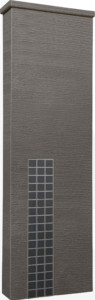 ファミアージュアクシス500×1600[本体]ダークブラウン[タイル]マットブラック