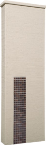 ファミアージュアクシス500×1600[本体]ベージュ[タイル]セピアブラウン