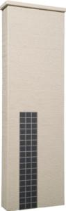 ファミアージュアクシス500×1600[本体]ベージュ[タイル]マットブラック