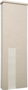 ファミアージュアクシス500×1600[本体]ベージュ[タイル]ミルキーホワイト