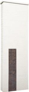 ファミアージュアクシス500×1600[本体]ホワイト[タイル]セピアブラウン