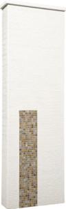 ファミアージュアクシス500×1600[本体]ホワイト[タイル]フォンテブラウン
