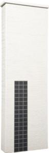 ファミアージュアクシス500×1600[本体]ホワイト[タイル]マットブラック