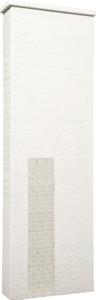 ファミアージュアクシス500×1600[本体]ホワイト[タイル]ミルキーホワイト