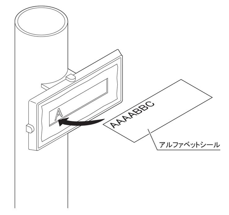 ブルーム門柱M3型 アルファベットシール