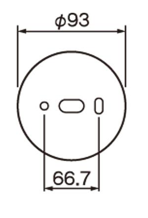 ポージィウォールライトUNOG254693LD 壁面接合部