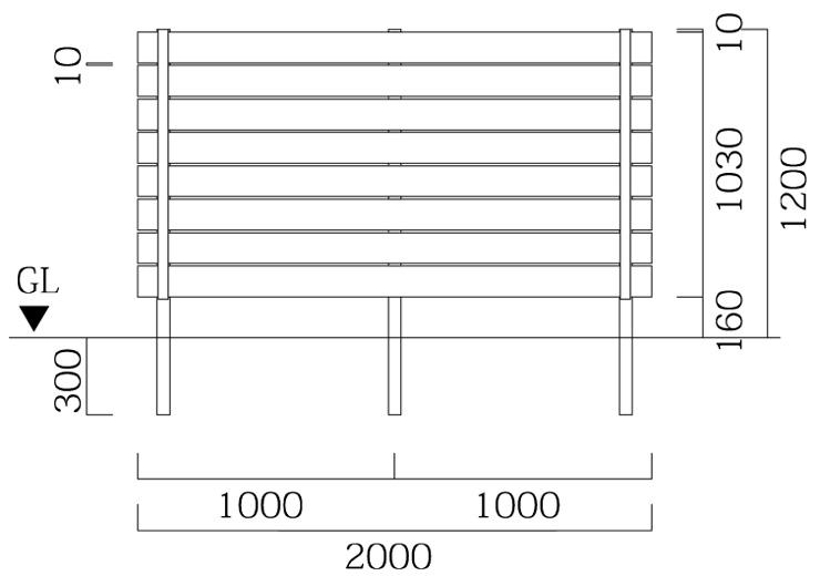 マイティウッド リアルウッド 板8段貼 T-12 サイズ