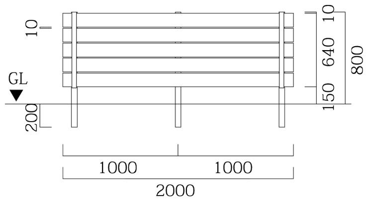 マイディウッドSライン 5段貼 基本型サイズ