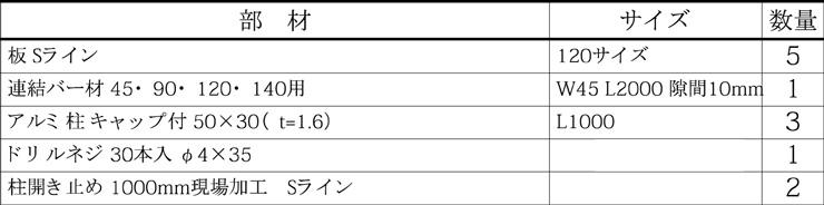 マイディウッドSライン 5段貼 基本型 部材セット