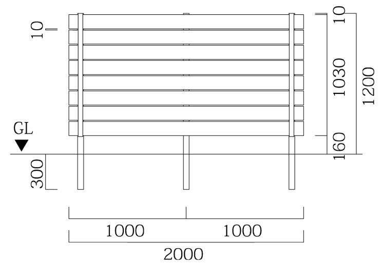 マイディウッドSライン 8段貼 基本型サイズ