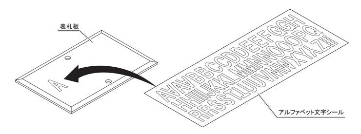 マイ門柱2型 化粧パネル付 アルファベットシール