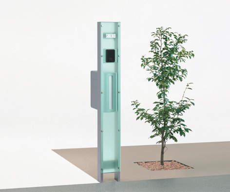 マイ門柱SI型ポリカタイプ 施工イメージ