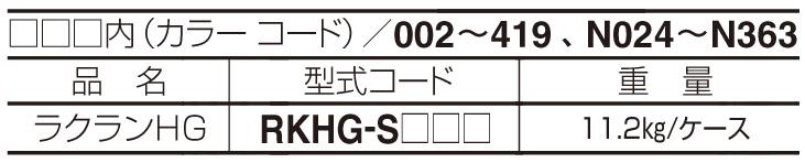 ラクランHG 材料表
