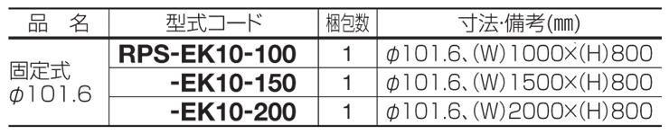 レコポールS EK10 型式・寸法