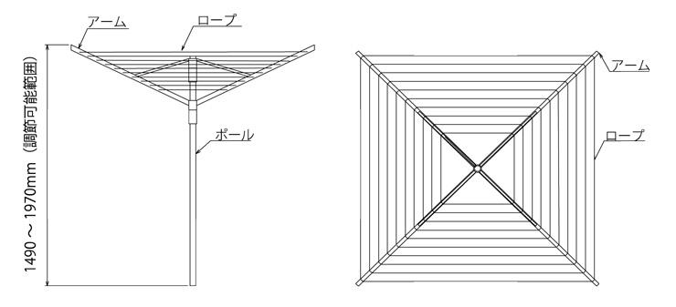 ロータリードライヤー エコノミック 3-30 寸法