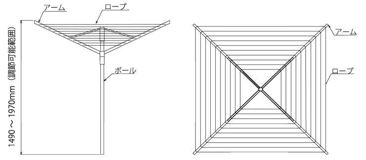 ロータリードライヤー リフトオマチックアドバンス 4-50 寸法