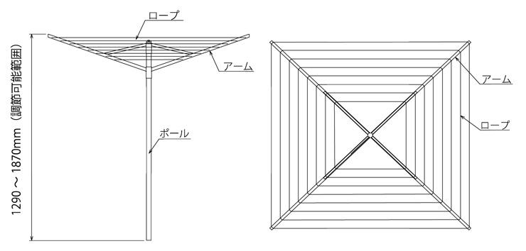 ロータリードライヤー リフトオマチック 4-40 寸法