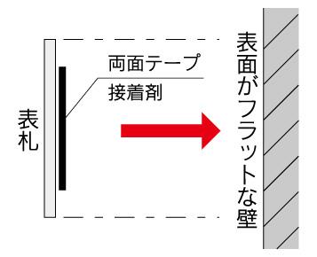 両面テープ取付 (2)