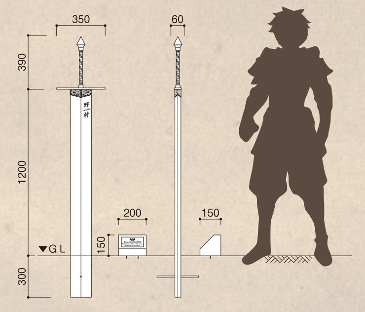 伝説の聖剣 サイズ