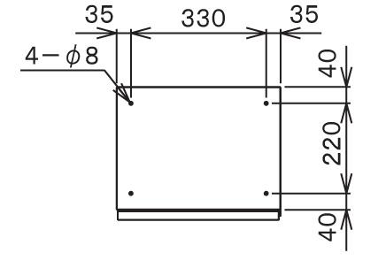 宅配ボックスTBX-G1S サイズ (1)