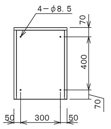 宅配ボックスTBX-G1S サイズ (2)
