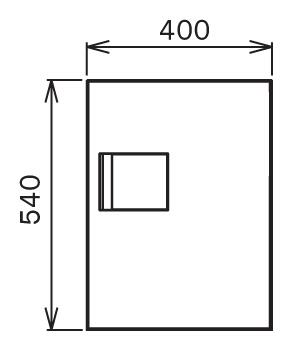 宅配ボックスTBX-G1S サイズ (3)