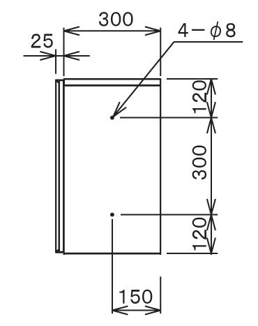 宅配ボックスTBX-G1S サイズ (4)