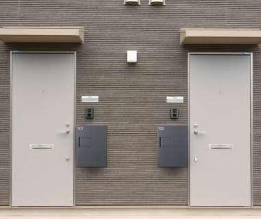宅配ボックスTBX-G1S 壁付けイメージ