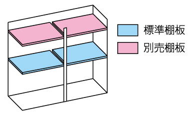 小型物置DM-GY157 棚板