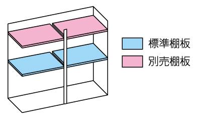 小型物置DM-GY177 棚板
