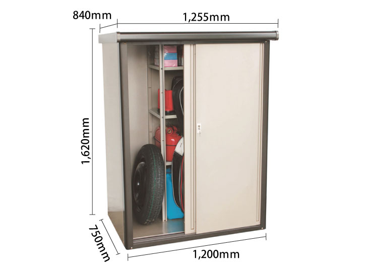 物置DM2-1675型 サイズ
