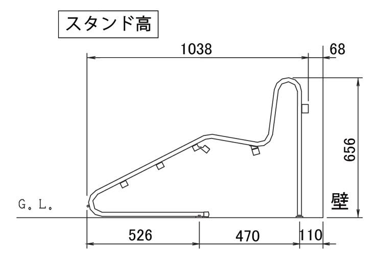 独立式スタンドCS-GU サイズ (1)