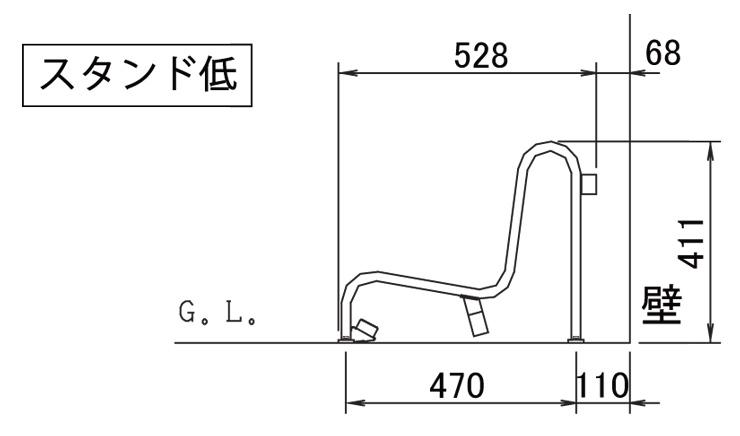 独立式スタンドCS-GU サイズ (2)