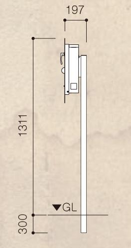 男前ポスト 伝説の盾 ポストスタンドサイズ