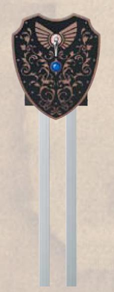 男前ポスト 伝説の盾 ポストスタンド