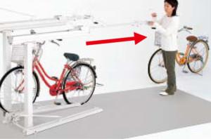 2段式サイクルラック1型 使用方法 (2)