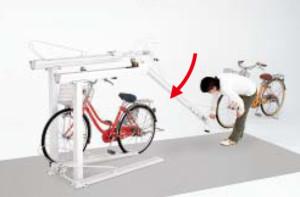 2段式サイクルラック1型 使用方法 (3)