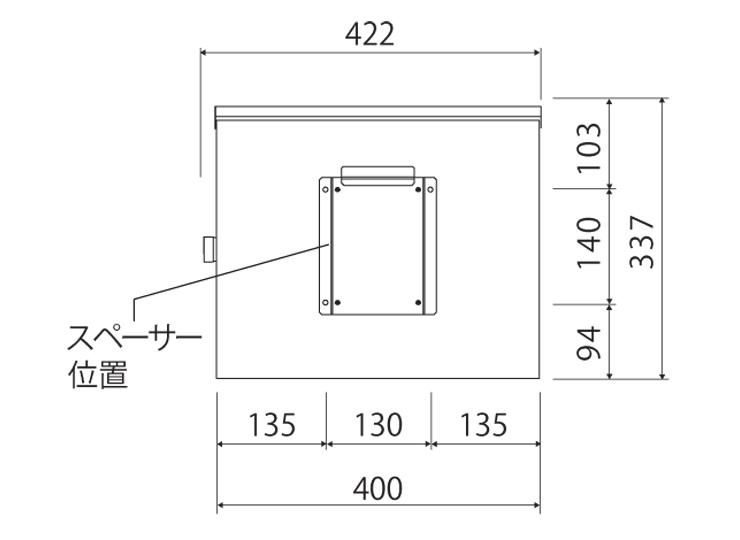 ユニソン 壁付けポスト モルト (6)