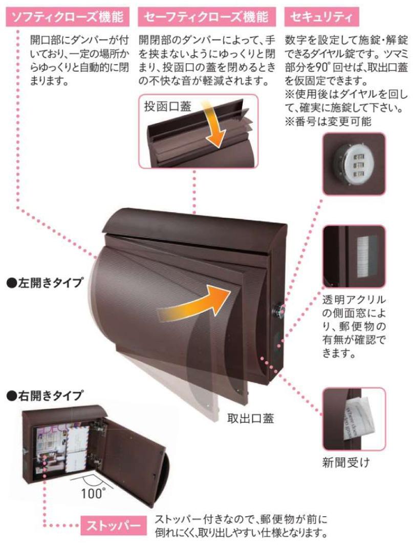 ユニソン 壁付けポスト モルト (8)