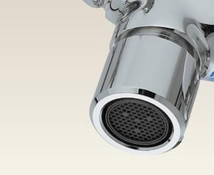 スプレスタンド60ライト上部蛇口標準装備_泡沫アダプター付