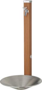 スプレスタンド60左右仕様蛇口1個セット[本体色]アニグレ[セット蛇口]シルバーシャインポットステンレスシルバー組み合わせ例
