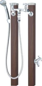スプレスタンド60混合栓セット[本体色]ウォールナット