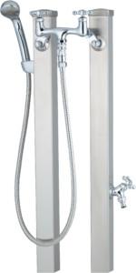スプレスタンド60混合栓セット[本体色]ステンレスシルバー