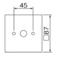 ポージィウォールライトUNDWP-40312Y 壁面接合部