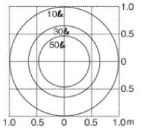 ポージィポールライトUA01006 床面照度白色シルバー