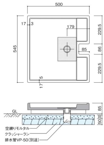 グランデパン545テンド 参考施工図